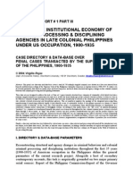 Crime & the Institutional Economy of Criminal Processing & Disciplining Agencies in Late Colonial Philippines, 1930-1935