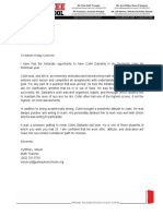 collin dalsanto - letter of recommendation