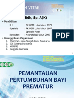 Growth Monitoring in Preterm Infant (Yulidar Hafidh)