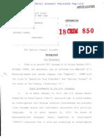 Federal complaint against Michael Cohen
