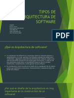 Tipos de Arquitectura de Software