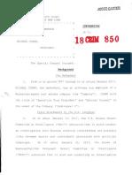 Michael Cohen Plea Deal Document To Zennie62Media