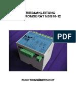 Betriebsanleitung NSG16 12 V101