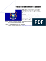 Proposal 1-Constitution Convention Debate