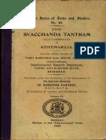 Svacchanda Tantra Vol IV Madhusudan Kaul