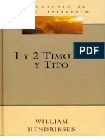 HENDRIKSEN William. Comentario Biblico a 1 y 2 Timoteo y Tito