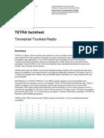 TETRA Factsheet