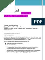 Trabajo Final Sobre Embarazo Adolescente - FinEs - Diseño de Proyectos 2018