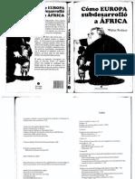 Como Europa Subdesarrollo a Africa - Walter Rodney