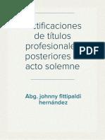 Portafolio Rectificaciones de Titulos Profesionales