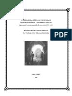 Estrés Laboral y Riesgos Psicosociales en Trabajadores de Una Empresa Minera