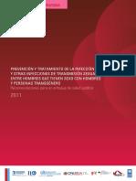 Prevención y Tratamiento de La Infección Por El VIH y Otras Infecciones de Transmisión Sexual Entre Hombres Que Tienen Sexo Con Hombres y Personas Transgénero - Recomendaciones Para Un Enfoque de Salud Pública
