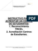 Instructivo Para Acreditar Un Centro de Estudiantes
