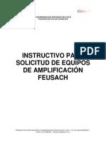 Instructivo Para Solicitud de Equipos de Amplificación FEUSACH
