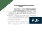 Proyecto para reactivar Consejo Electoral Andino