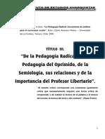 Carlos Ampuero. La Pedagogia Radical