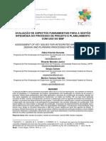 TIC 2015 - Avaliação de aspectos fundamentais para gestão integrada do processo de projeto e planejamento com uso do BIM