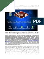 Tips Bocoran Togel Indonesia Keluaran SGP