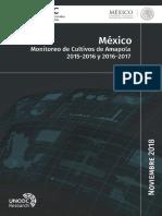 Mexico Monitoreo Cultivos Amapola 2015 2017
