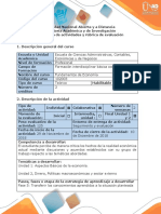 Guía de Actividades y Rúbrica de Evaluación Fase 5 Transferir Los Conocimientos Aprendidos a La Situación Planteada