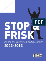 NYCLU - Stop and Frisk Report
