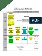 Calendarización Curso Especialización