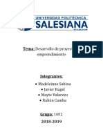 GESTION PROYECTO PANADERIA