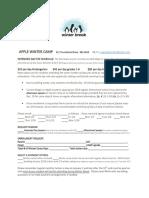 2019 winter camp registration