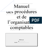 MANUEL DES PROCEDURES ET LORGANISATION COMPTABLE.doc