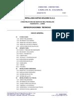 Especificaciones Tecnicas Para Ordenar