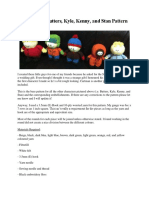 South Park Characters Amigurumi Pattern