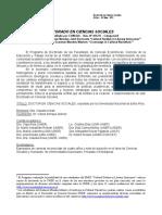 Información Doctorado en Ciencias Sociales