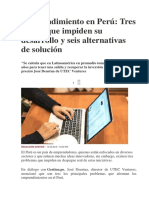 Emprendimiento en Peru