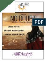 No Doubt - QShams Notes