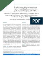 Diversidad de Adenovirus Detectados en Niños