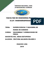 SUPERVIVENCIA Y MANIOBRA DE  RUEDA DE GOBIENO