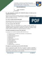 Preguntas ISO 21001