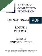 01 - Prelims 1 - Oxford + Duke