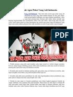Tips Masuk Agen Poker Uang Asli Indonesia