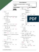 Sistemas de Ecuaciones Lineales Ejercicios