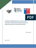 Informe Estudio Calidad Educacion Parvularia 2015