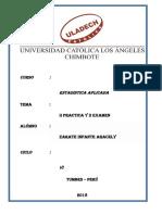 Practica y Examen de Estadistica