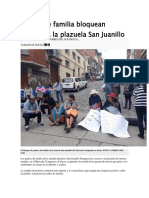 Padres de Familia Bloquean Accesos a La Plazuela San Juanillo