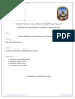 Accidentes de Trabajo en El Perú