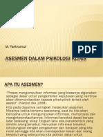 Asesmen Dalam Psikologi Klinis
