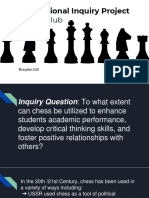 professional inquiry project  chess club