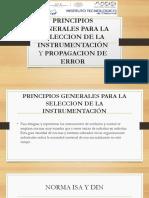 Principios Generales Para La Seleccion de La Instrumentación