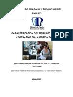 526. Caracterización Del Mercado Laboral y Formativo de La Región Callao.