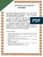 Reseña Historica - Cramer