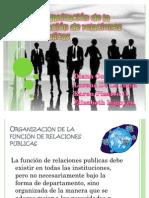 Organización de la función de relaciones públicas